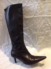L.K.Bennett Black Knee High Leather Boots Size 37
