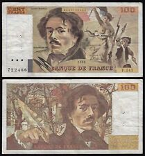 Frankreich - France  100 Francs 1989 Pick 154d F/VF (3/4)  (23999