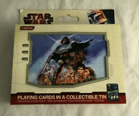 Star Wars Playing Cards w/ Collectible Tin 2 Decks New & Sealed 30th Anniversary