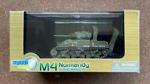 Dragon Armor 1/72 Scale, US Sherman M4 Normandy w/Deep Wading Kit, # 60369