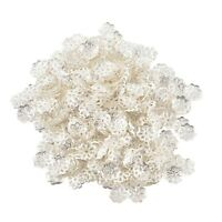 500PCS Open Petal Flower Bead Caps 6mm Bright Gold Plated WS