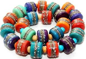 """Sistersbeads """"D-Desert Dusk"""" Handmade Lampwork Beads"""