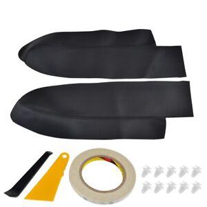 Front Door Panel Armrest Cover Black Trim w/ Shovel Tape for Honda CRV 2007-2011