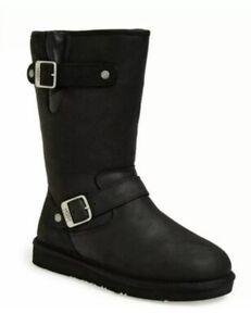 UGG Sutter Black Leather Boots UK6