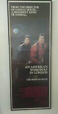 AN AMERICAN WEREWOLF IN LONDON 1981 ORIG MOVIE POSTER 14X36  NAUGHTON IN FRAME