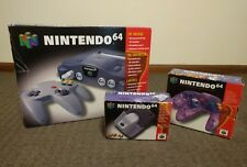 NINTENDO 64 CONSOLE TWIN CONTROLLER PACK BOXED COMPLETE + FREE RANDOM N64 GAME