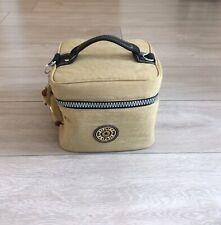 Kipling Vanity/Travel Make Up Bag, With Monkey, Khaki/Dark Beige -Strap Missing
