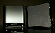 Sony DVD Home Cinema HiFi Silver Metal Aluminium S-Master Surround Speakers
