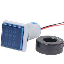 Digital Led Panel Mount Ac 60500v 100a Voltmeter Ammeter Amp Volt Dual Display