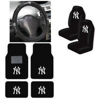 New MLB New York Yankees Car Truck Seat Covers Floor Mats Steering Wheel Cover