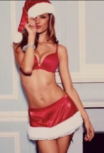 Victoria Secret Red Christmas Santa Skirt and hat - One Size NWT*