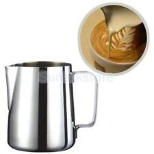 Milk Frother Pitcher Stainless Steel Cup Frothing Steaming Kitchen 1000ml
