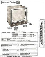Service Manual 1955 Photofact w-Schematic EMERSON 1108D 1127D 120257-D 120265 TV