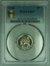 1938 Jefferson Nickel Proof 5c Coin PCGS PR-67 Secure