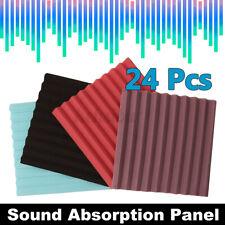 12/24X Studio Acoustic Foam home Sound Absorbtion Proofing Karaoke Panels Wedge