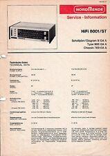 Service Manual-Anleitung für Nordmende HiFi 8001 ST, 969.134.A