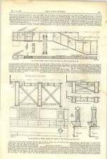 1893 el Tower Bridge 15 Middlesex Estribo superestructura de mampostería