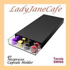 Tavola Swiss CASSETTO NESPRESSO 40 CAPSULA portacialde caffè, Vassoio, Scaffale,