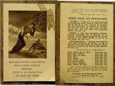 Image religieuse ancienne,Priére pour les prisonniers de guerre ,Aumonerie Paris