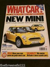 WHAT CAR? - BMW MINI - JULY 2001