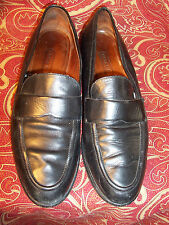 COACH SIZE 10M  ITALY BLACK LEATHER LOAFERS GOOD CONDITION