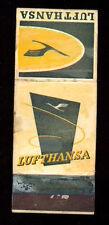 LUFTHANSA MATCHBOX LABEL ANNI  '50 AIRWAYS AIRLINES GERMANY