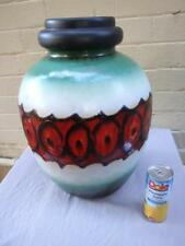 SUPERB RETRO HUGE SCHEURICH  LAVA W.GERMAN FLOOR VASE  MID-CENTURY 1950'S