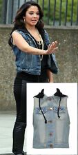 Unbranded Denim Patternless Casual Coats & Jackets for Women