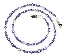 Tanzanite Violet Austrian Crystal Purple Bead Mix Eyeglass Chain