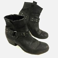 Women's KORKS by Kork Ease Harness Ankle Boots Black leather Sz 9.5 M