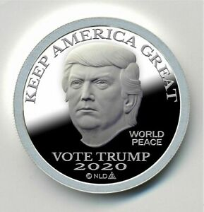 2020 Trump .999 Silver $25 Proof Like Round in Capsule