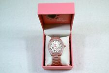 Betsey Johnson BJ00048-250B Mother of Pearl Crystal Dial Gold Tone Lady's Watch