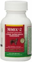Nemex-2 Canine Pyrantel Pamoate Oral suspension Liquid Dog Wormer 60ml