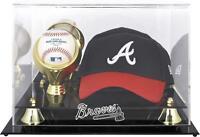 Atlanta Braves Acrylic Cap and Baseball Logo Display Case - Fanatics