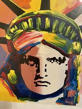 Liberty Head Limited Edition Silkscreen Peter Max - SIGNED