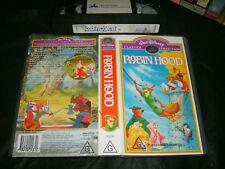 VHS * WALT DISNEY - ROBIN HOOD * RARE Australian Issue - Limited Release!