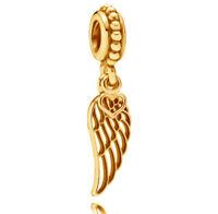 Genuine PANDORA Love & Guidance Angel Hanging Charm 14K Gold Vermeil 791389
