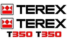 TEREX T350 DECALS  STICKERS SET