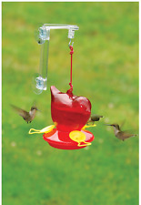 Bird Feeder, Red Bird Shaped Window Hummingbird Birdfeeder