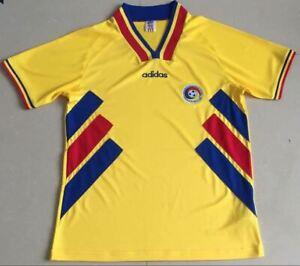 1994 Romania Yellow Retro Soccer Jersey