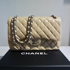 Chanel Classic icone BAG doublle Flap beige argento