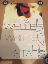 Paul Weller Promo Poster It's Written In The Stars The Jam Style Council RARE