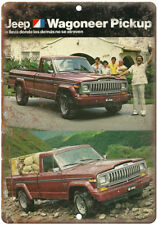 """Jeep Wagoneer Pickup Truck Latin Ad RARE 10"""" x 7"""" Reproduction Metal Sign A98"""