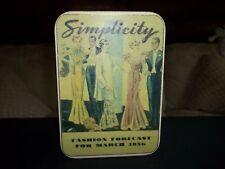 Vintage Simplicity Tin Can