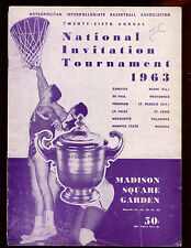 1963 NCAA NIT Final 4 Game Program Villanova Canisius Providence Marquette VG