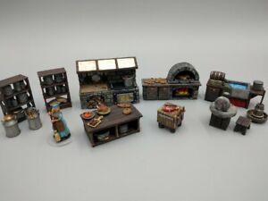 Tabletop Set Tavern Kitchen Complete Terrain Dungeons & Dragons/Warhammer
