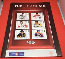 The Ultimate Six Hockey Sept 2017 Canada Post Stamp & Coin Collectible Booklet