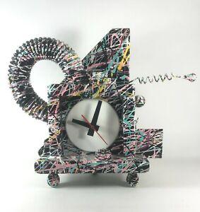 Richard Birkett Splatter Paint Fantasy Clock Signed Memphis Style Post Modern