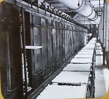 Conveyor With Trays of Loaf Sugar, New York, Magic Lantern Glass Photo Slide