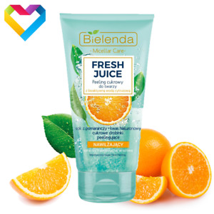 Bielenda FRESH JUICE Orange - Sugar Face Scrub Peeling For Dry Skin - 150g